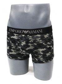 Boxer Emporio Armani Microfibra camuflaje en negro