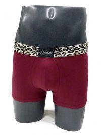 Boxer Calvin Klein algodón leopardo rojo