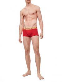 Boxer hombre Calvin Klein microfibra en rojo y oro