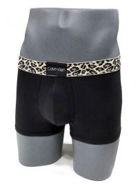 Boxer Calvin Klein algodón leopardo negro