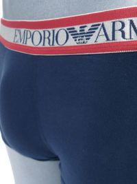 Boxer Emporio Armani en algodón en azul marino y rojo