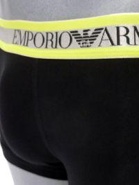 Boxer Emporio Armani en algodón en negro y amarillo