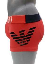 Boxer Emporio Armani Algodón Big Eagle en rojo