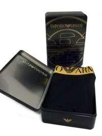Boxer Emporio Armani Algodón en Negro y Oro