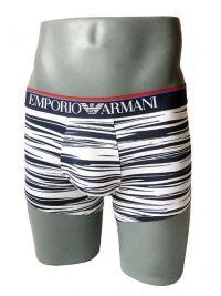 Boxer Emporio Armani Microfibra en blanco a rayas