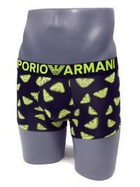 Boxer Emporio Armani Microfibra negro con logo neón