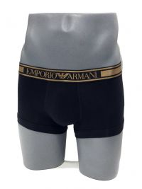 Boxer Emporio Armani en algodón en negro y dorado