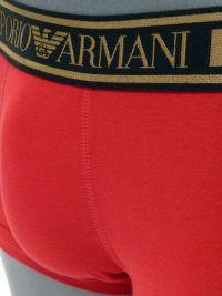 Boxer Emporio Armani en algodón en rojo y dorado