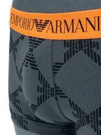 Boxer Emporio Armani en algodón con cinturilla naranja