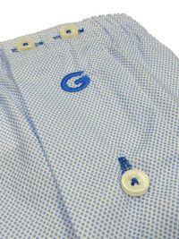 Boxer Giulio de Tela azul con microtopitos mod. Gros
