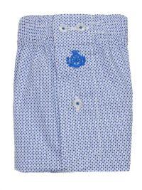 Boxer Guasch de tela blanco con topitos azules