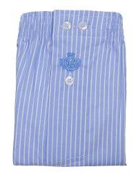 Boxer Guasch de tela a rayas en azul celeste