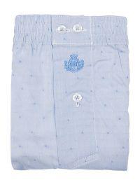 Boxer Guasch de tela en azul claro con topitos