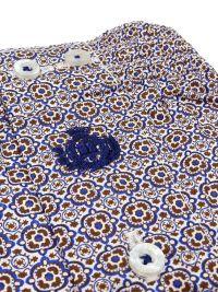Boxer Guasch de tela estampado en azul y marrón