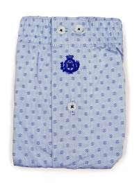 Boxer Guasch de tela azul claro con topitos corbateros