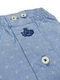 Boxer Guasch de tela con topitos en azul (hasta 4XL)