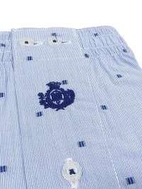 Boxer Guasch de tela azul claro con topitos