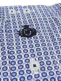 Boxer Guasch de tela multitopos azules