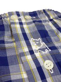 Boxer Kiff-kiff de tela a cuadros en azul