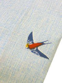 Boxer Kiff-kiff de tela en azul jeans con golondrinas