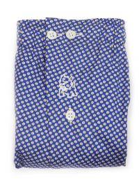 Boxer Kiff-kiff de tela en azul con estrellitas