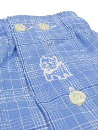 Boxer Kiff-kiff de tela a cuadros en azul y blanco