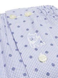 Boxer Kiff-kiff de tela para hombre con cuadritos y topitos en azul marino