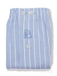 Boxer Kiff-kiff de tela a rayas azul celeste