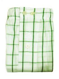 Boxer Kiff-kiff de tela blanco y cuadros en verde