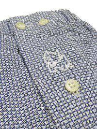 Boxer Kiff-kiff de tela azul con estampado geométrico