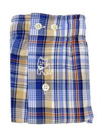 Boxer Kiff-kiff de tela a cuadritos multicolor azul