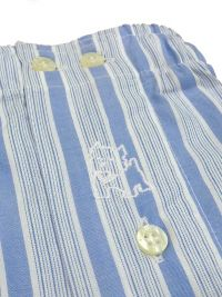 Boxer Kiff-kiff de tela a rayas en azul y blanco