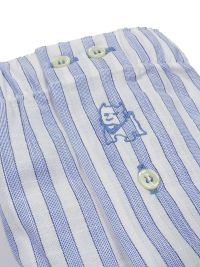 Boxer Kiff-kiff de tela a rayitas en blanco y azul claro