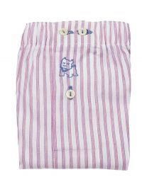 Boxer Kiff-kiff de tela a rayas en rosa y blanco