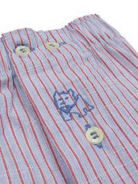 Boxer Kiff-kiff de tela a rayitas en rojo y azul