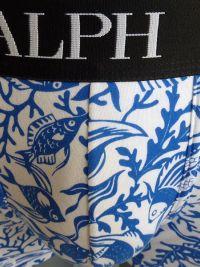 Boxer Polo Ralph Lauren fondo marino en blanco