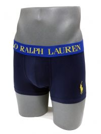 Boxer Polo Ralph Lauren Marino y Amarillo Oro