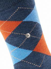 Calcetín Burlington Edinburgh azul jeans