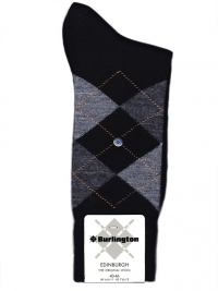 Calcetín Burlington Edinburgh negro