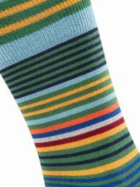 Calcetines Burlington Stripe de lana a rayas en azul marino