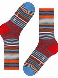 Calcetines Burlington Stripe de lana a rayas en rojo
