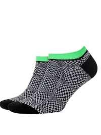 Calcetín Burlington Checks Black Sneaker
