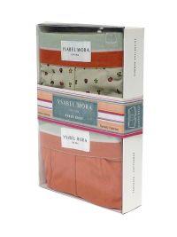 2 Pack Ysabel Mora Underwear Boxer Naranja y Beige con prints