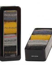 4 Pack Calcetines Calvin Klein combinados en gris oscuro