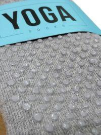 Calcetín Ysabel Mora antideslizante Yoga en gris
