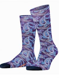 Calcetines Burlington Fashion Paisley Print de algodón