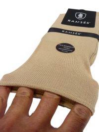 Calcetín Ramsés Hilo de Escocia puño anti-presión en beige