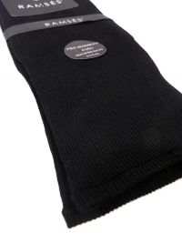 Calcetín Ramsés Hilo de Escocia puño anti-presión en negro