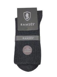 Calcetín Ramsés de lana cachemere anti-presión en gris