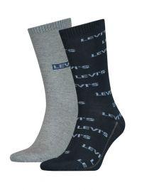 2 Pack de Calcetines Levi´s logo azul y gris